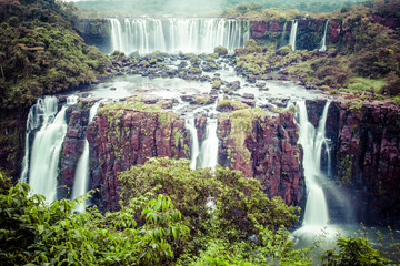 Panel Szklany Las Iguassu Falls,the largest waterfalls of the world,Brazilian side