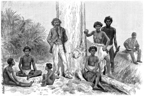 Traditional Aboriginals (Australia, Queensland) Canvas Print
