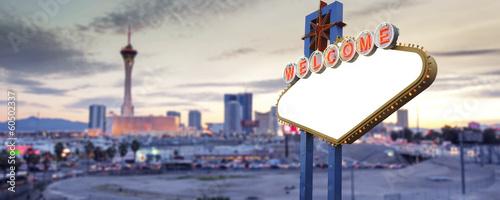 Foto op Aluminium Las Vegas Blank Welcome To Las Vegas neon sign