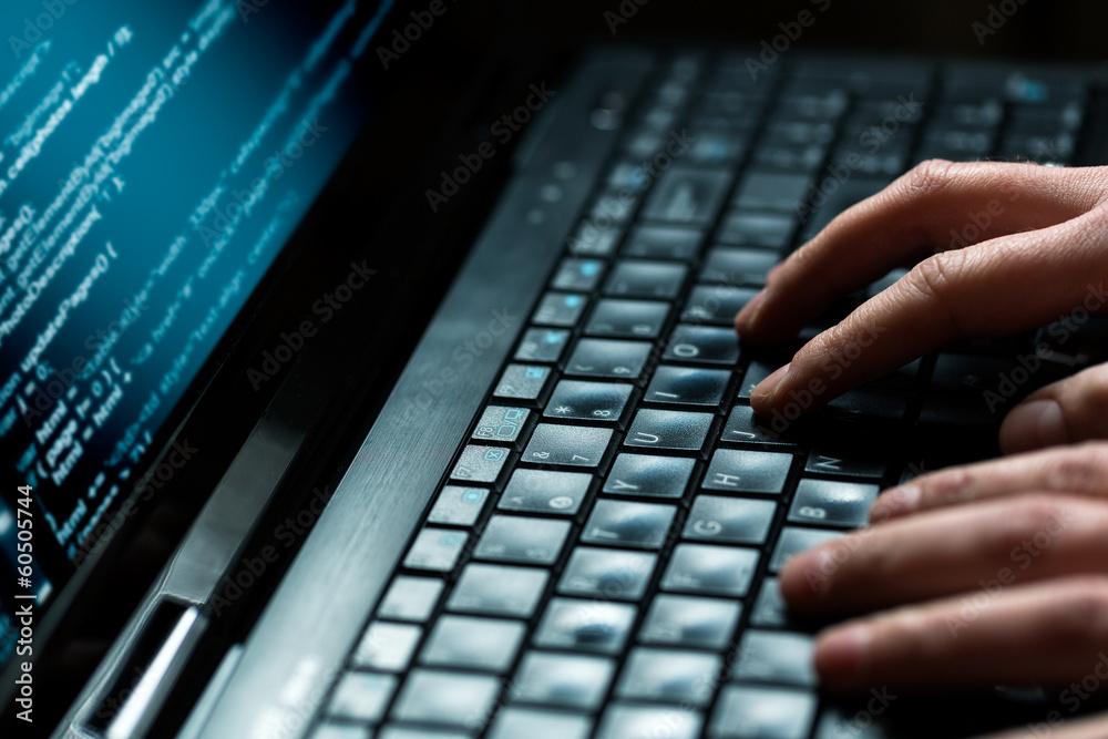 Fototapeta Computer crime concept