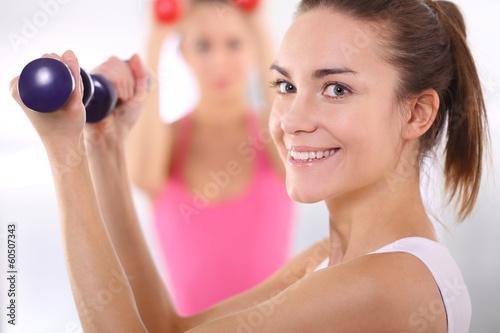 Obraz Trening hantlami - fototapety do salonu