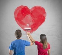 Romantic Heart Couple