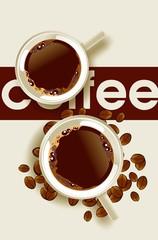 Fototapeta Kawa Coffee Cups Design