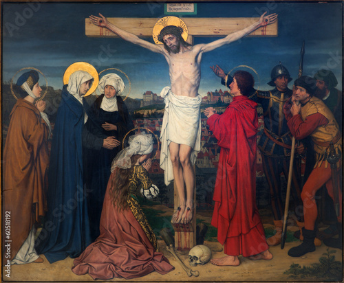 Foto Antwerp - Crucifixion paint from cathedral