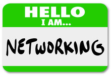 Networking Nametag Sticker Mee...