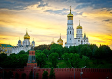 Cathedral And Ivan Great Bell Tower Of The Moscow