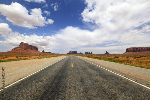 Keuken foto achterwand Route 66 route 66 vers Monument Valley, Arizona