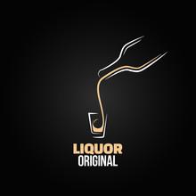 Liquor Shot Glass Bottle Desig...
