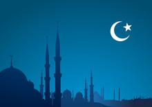 Blue Religious Background