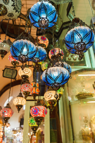Photo  Traditional vintage Turkish lamps
