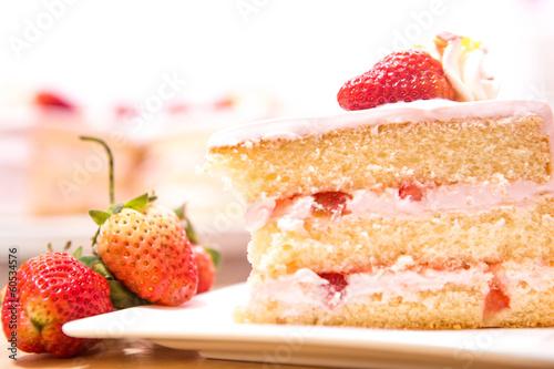 Vászonkép strawberry cake