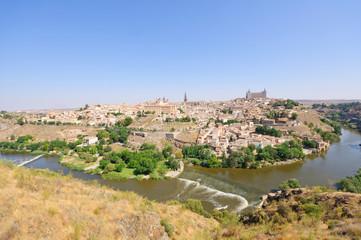 Fototapeta na wymiar The historic city of Toledo in Spain
