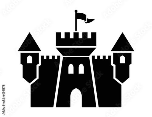 Leinwand Poster castle icon