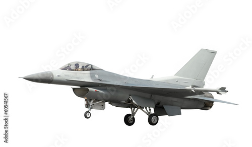 фотография  unmarked fighter jet isolated on white