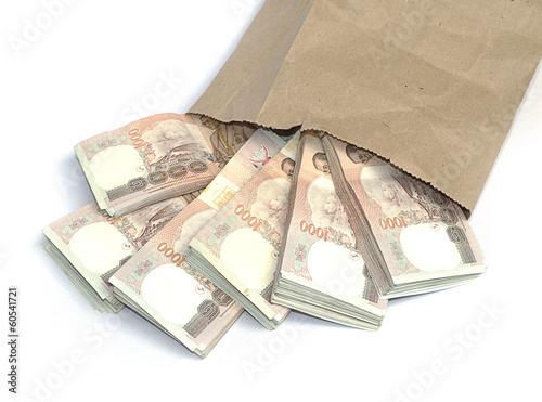 Valokuvatapetti Thousand baht banknotes