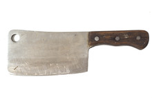 Old Cleaver Knife Isolated On ...