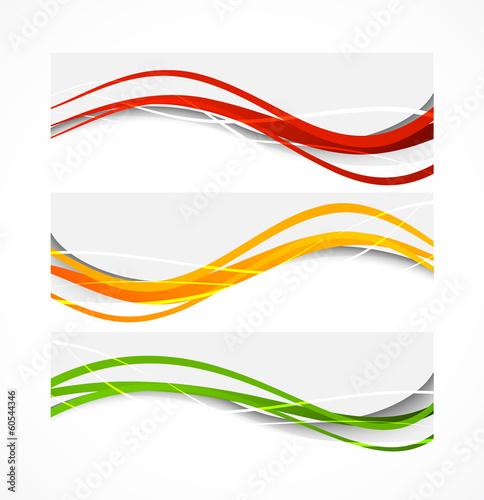 Fotografie, Obraz  Set of wavy banners