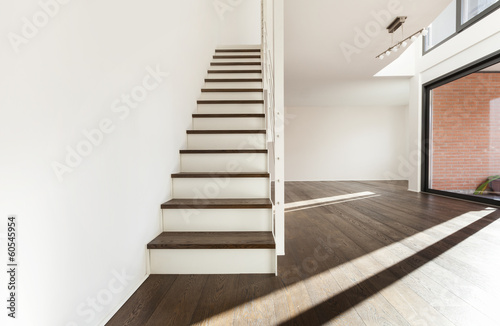 Beautiful Interior Of A New Apartment, Staircase View