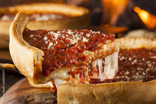 Poster Ready meals Chicago Style Deep Dish Cheese Pizza