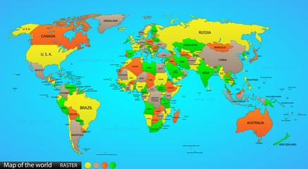 Fototapeta Political world map
