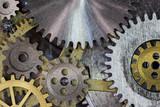 clock mechanism gears and cogs macro