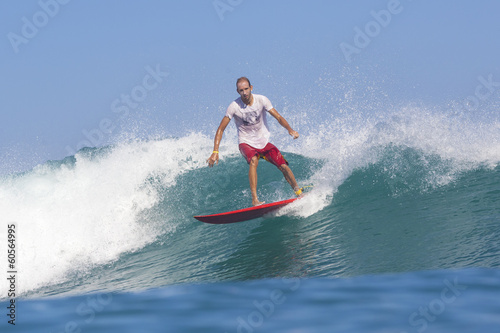 Poster Water Motor sports Surfing a wave