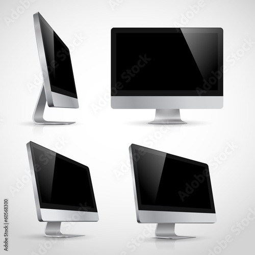Realistic vector template of computer monitor - Buy this stock ...