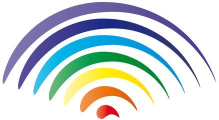 Fototapeta Regenbogen in Chakra Farben