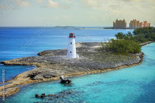 Photo nassau bahamas and lighthouse
