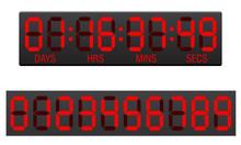 Scoreboard Digital Countdown Timer Vector Illustration