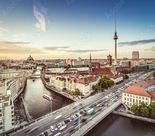 Spoed Fotobehang Berlijn Berlin Cityscape