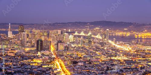 Deurstickers San Francisco San Francisco skyline,California