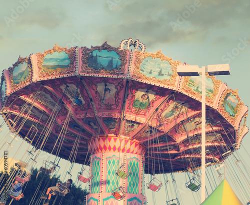 Papiers peints Attraction parc Carousel