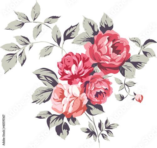 Foto-Lamellen (Lamellen ohne Schiene) - Vintage Pink Roses (von EnginKorkmaz)