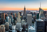 Fototapeta New York - New York Skyline at sunset