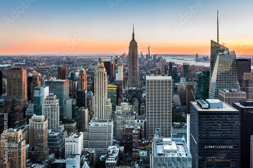 Fotografia, Obraz  New York Skyline at sunset