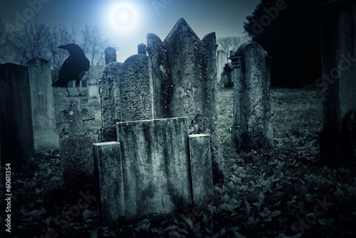 Wall Murals Cemetery Cemetery night