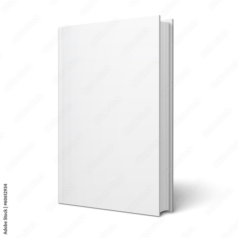 Fototapeta Blank vertical book template.