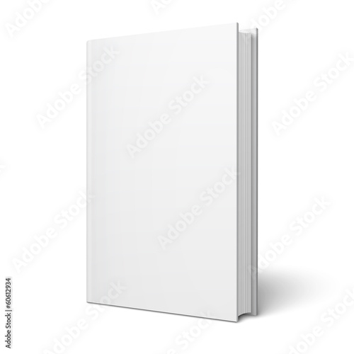 Fotomural Blank vertical book template.