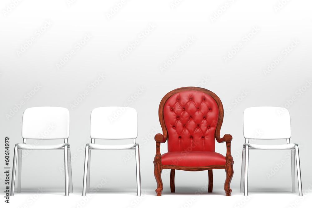 Fototapeta The red armchair