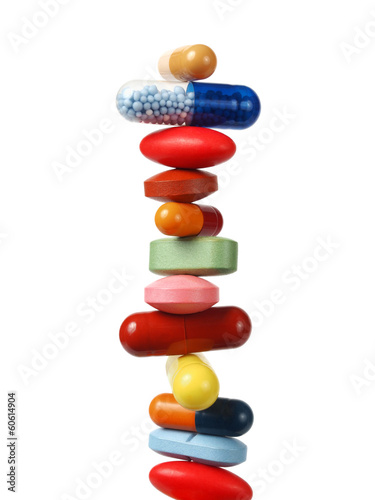 Obraz Stack of pills and capsules - fototapety do salonu