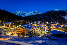 Illuminated Ski Resort Of Mado...