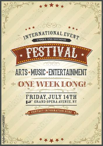 Vintage Festival Poster