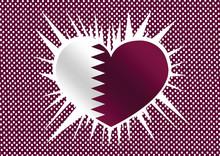 Qatar Flag Themes Idea Design