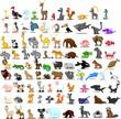 Супер набор из 91 симпатичных мультяшных животных
