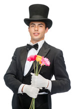 Magician With Flowers