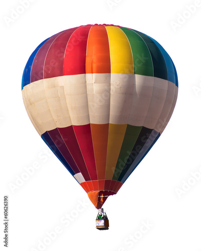 Staande foto Ballon Multicolored Balloon white isolated