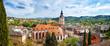Leinwanddruck Bild - Panoramic view of Baden-Baden. Europe, Germany
