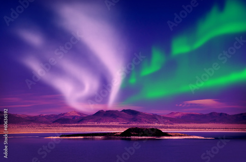 Canvas Prints Northern lights aurora borealis
