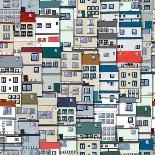 Nowoczesny obraz na płótnie Old town seamless pattern